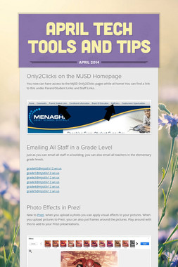April Tech Tools and Tips