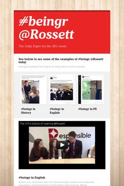 #beingr @Rossett