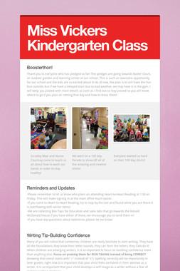 Miss Vickers Kindergarten Class