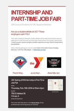 INTERNSHIP AND PART-TIME JOB FAIR