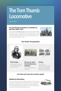 The Tom Thumb Locomotive