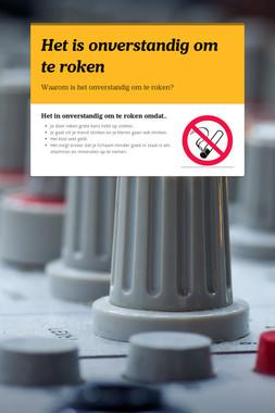 Het is onverstandig om te roken
