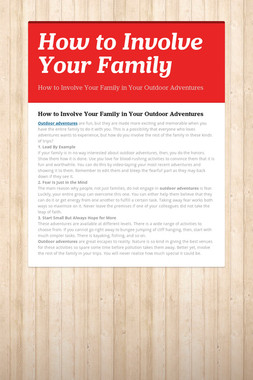How to Involve Your Family