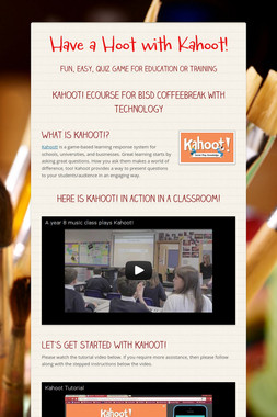 Have a Hoot with Kahoot!