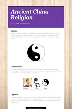 Ancient China- Religion