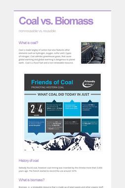 Coal vs. Biomass