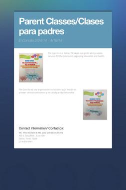 Parent Classes/Clases para padres