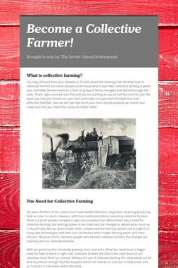 Become a Collective Farmer!