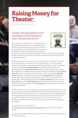 Raising Money for Theater: