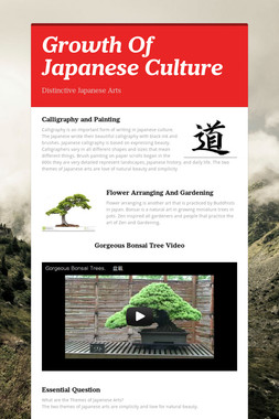 Growth Of Japanese Culture
