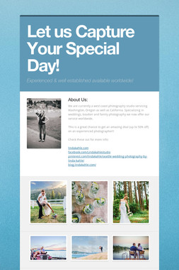 Let us Capture Your Special Day!