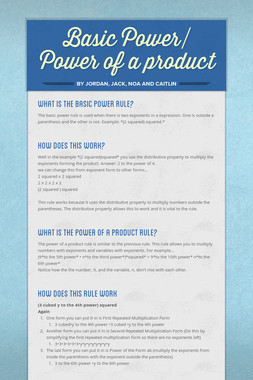 Basic Power/ Power of a product