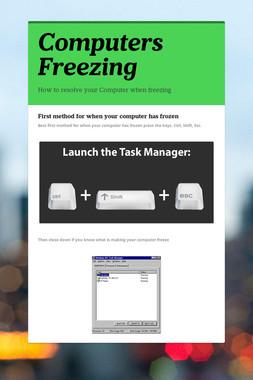 Computers Freezing