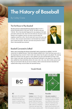 The History of Baseball