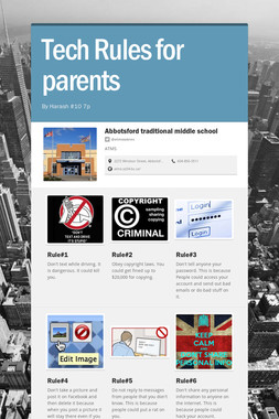 Tech Rules for parents