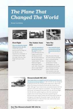 The Plane That Changed The World