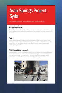 Arab Springs Project- Syria