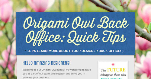 origami owl back office quick tips smore newsletters