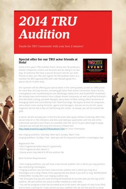 2014 TRU Audition