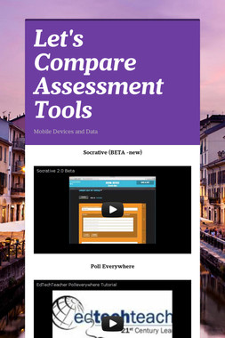 Let's Compare Assessment Tools
