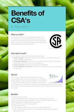 Benefits of CSA's