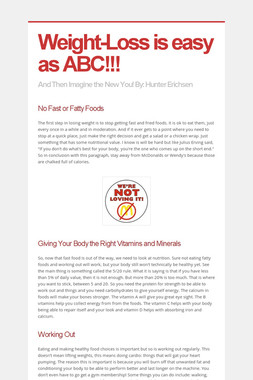 Weight-Loss is easy as ABC!!!