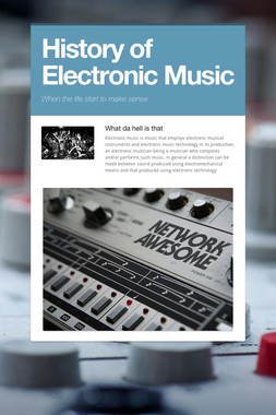 History of Electronic Music