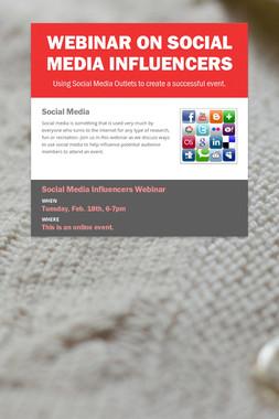 Webinar on Social Media Influencers