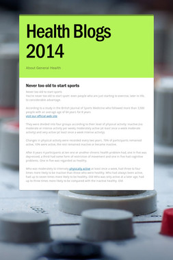 Health Blogs 2014