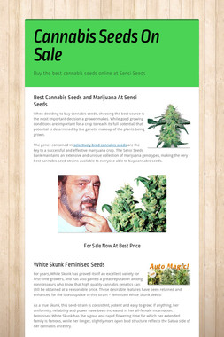Cannabis Seeds On Sale