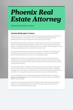 Phoenix Real Estate Attorney