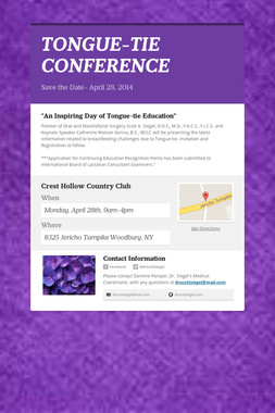 TONGUE-TIE CONFERENCE