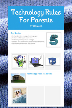 Technology Rules For Parents