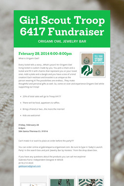 Girl Scout Troop 6417 Fundraiser