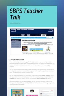 SBPS Teacher Talk
