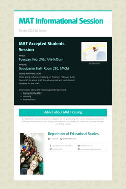 MAT Informational Session