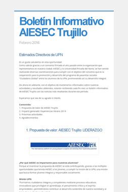 Boletín Informativo AIESEC Trujillo
