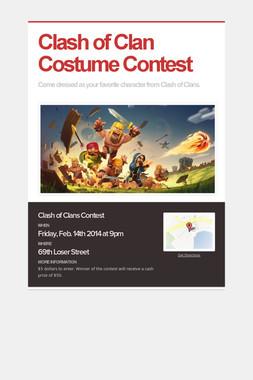 Clash of Clan Costume Contest