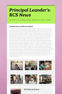 Principal Leander's: RCS News