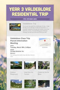 Year 3 Valdeblore Residential Trip