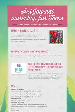 Art Journal workshop for Teens