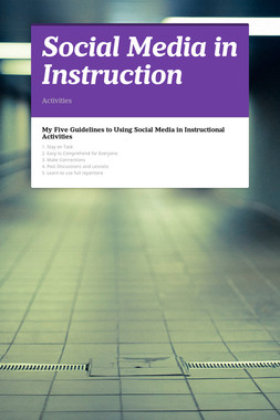 Social Media in Instruction
