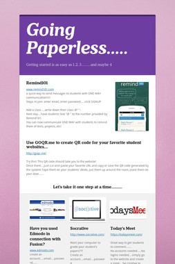 Going Paperless.....