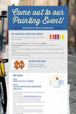 Come out to our Painting Event!