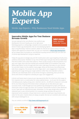 Mobile App Experts