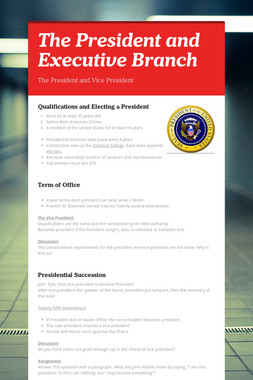 The President and Executive Branch