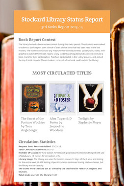 Stockard Library Status Report