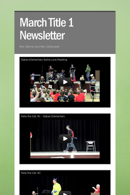 March Title 1 Newsletter