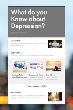 What do you Know about Depression?