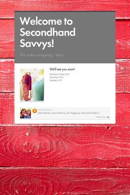 Welcome to Secondhand Savvys!